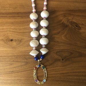 Anthropologie Wooden Beaded Necklace - NEW!